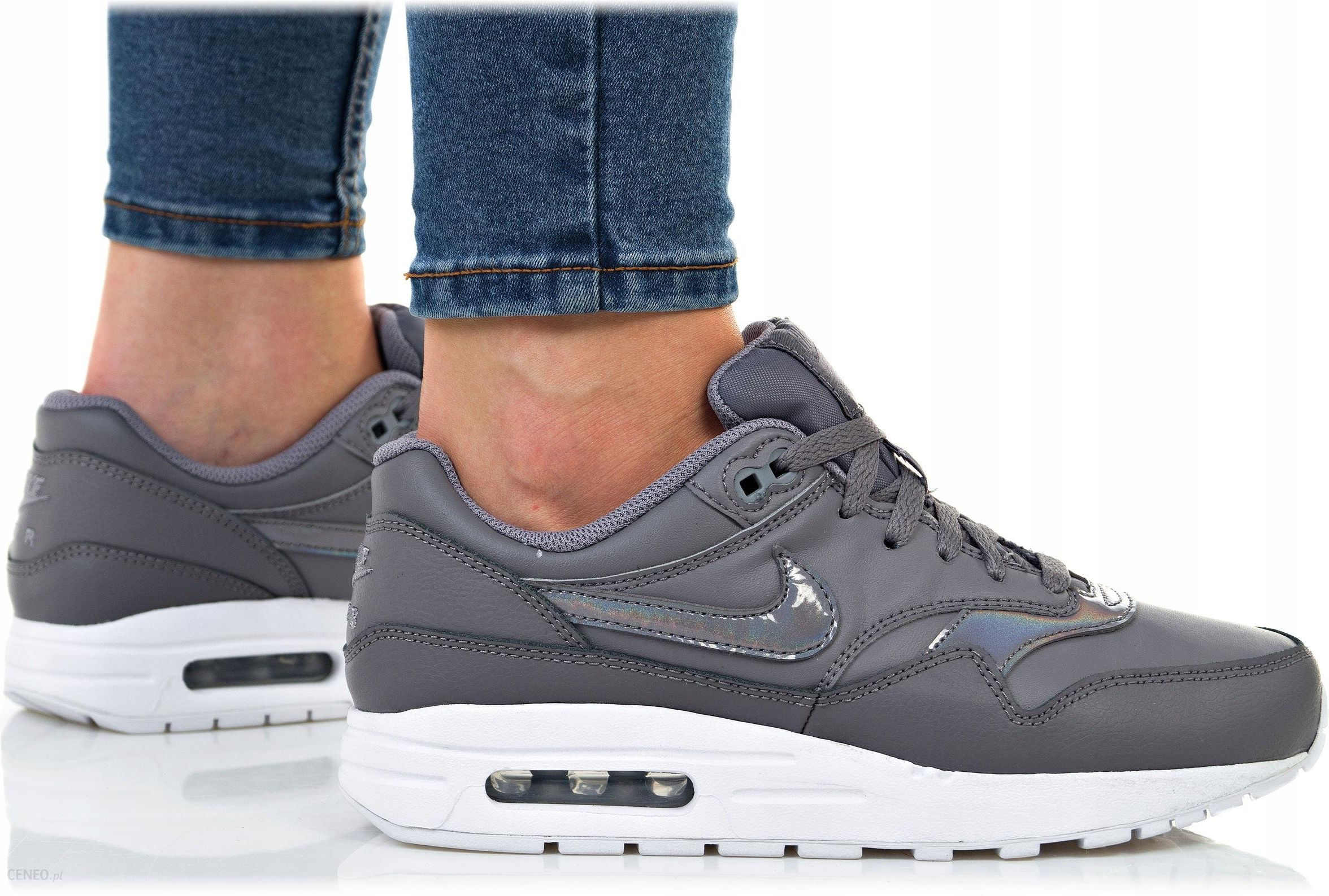 Buty Nike Damskie Air Max 1 (gs) 807605 001 Szare Ceny i opinie Ceneo.pl