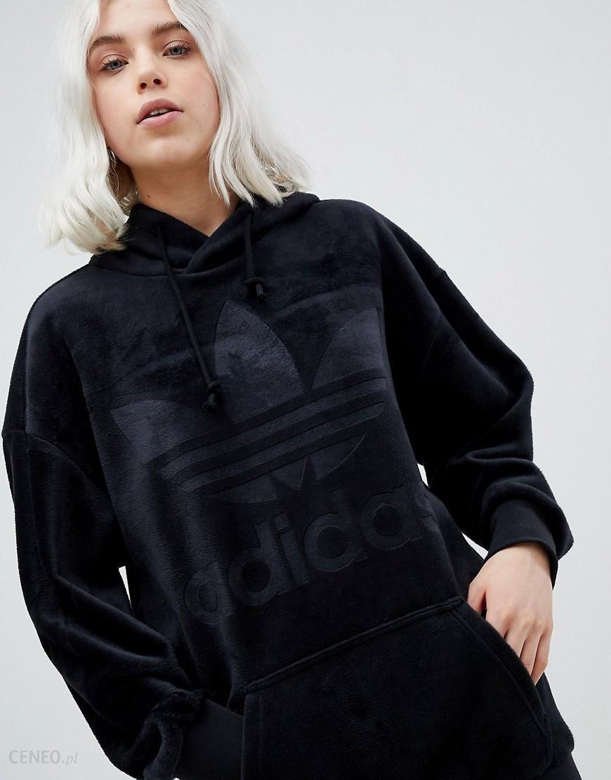 Adidas Originals Velour Oversized Hoodie In Black Black Ceneo.pl