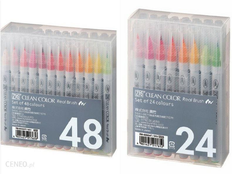 """""""Kuretake Zig Clean Color"""" tikrasis 4 šepetėlių rinkinys"""