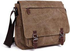 f6ac303ea725e Amazon Los mile torba na ramię męska torba na ramię torba 16 cali Posłaniec  Canvas Laptop