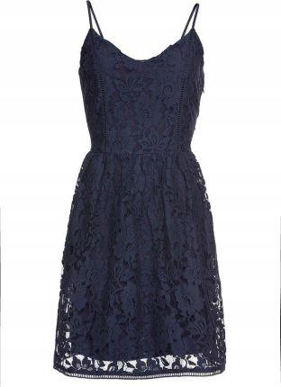 c58df8b61a Sukienka letnia z koronką niebieski 46 3XL 913954 - Ceny i opinie ...