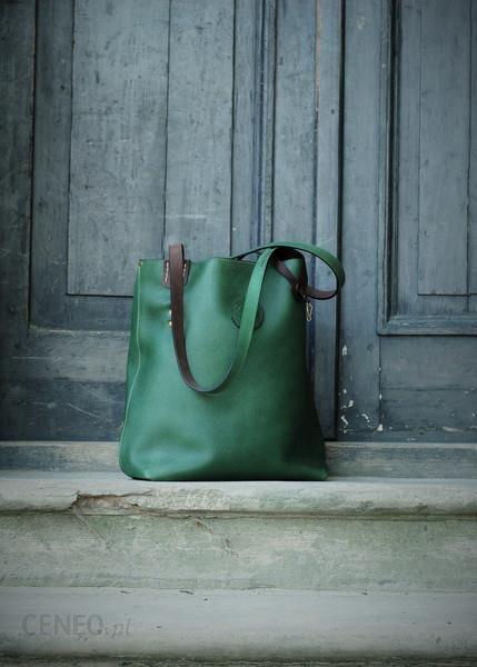 Ladybuq art studio torebka torba skórzana ręcznie robiona duża szara Ceny i opinie Ceneo.pl