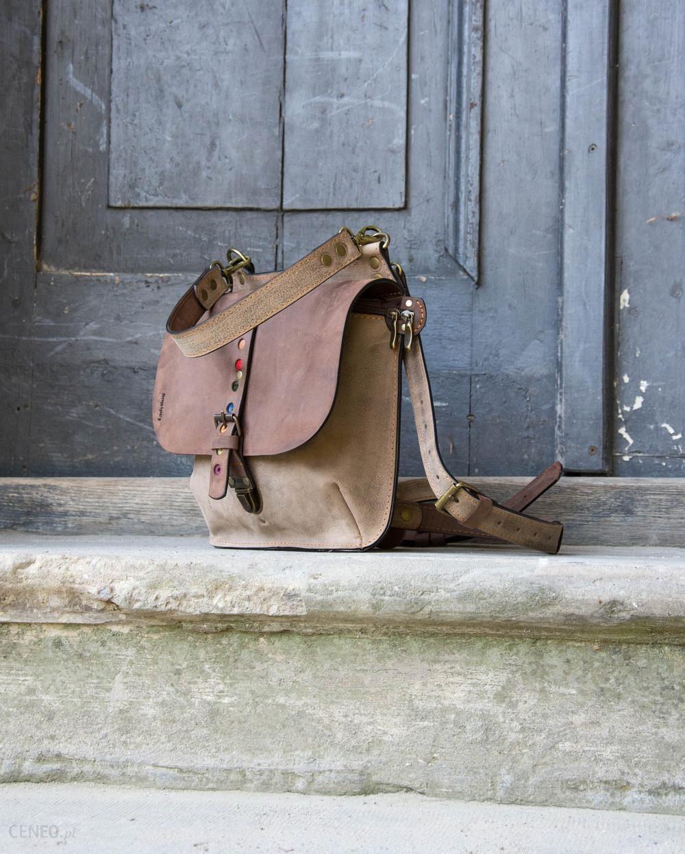 4e8a5f77343a9 ladybuq art studio Torebka torba plecak ręcznie robiona skórzana - zdjęcie 1