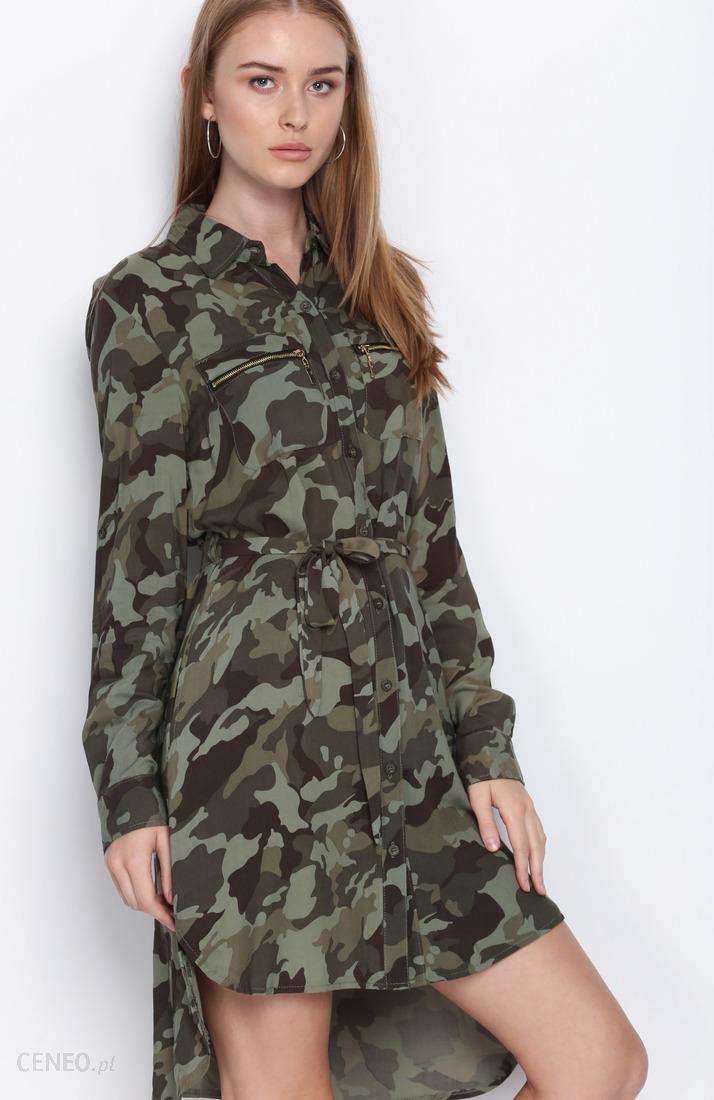 b608f95d Zielona-Moro Sukienka Be Yourself - Ceny i opinie - Ceneo.pl