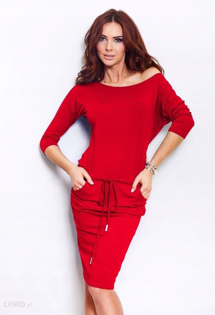 10e18ec5c1 Sukienka sportowa przyjemna w dotyku -czerwona XL - Ceny i opinie ...
