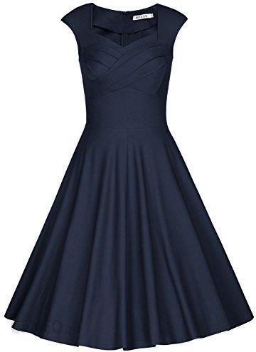 6fccedc892 Amazon MUXXN damska sukienka swing w stylu retro inspirowana latami 50-tymi  Vintage Rockabilly