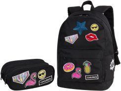 a872ebff9b199 Patio Zestaw Coolpack Badges Girls Black Plecak Cross + Piórnik Clever