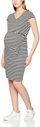 0fa9e299e7 Amazon Mama licious damski sukienka to mlblackie Cap Sleeve Jersey  Dress-STR - wąż 36