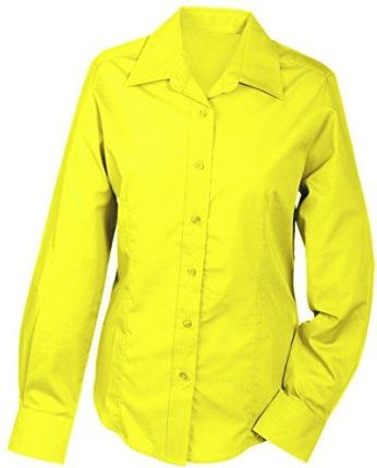 Amazon James & Nicholson damska bluzka Ladies 'Promotion blouse Long-Sleeved -  żółty (yellow)