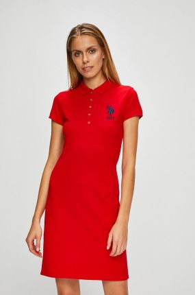 512862b3ba Granatowo-Czerwona Sukienka Discontinue - Ceny i opinie - Ceneo.pl
