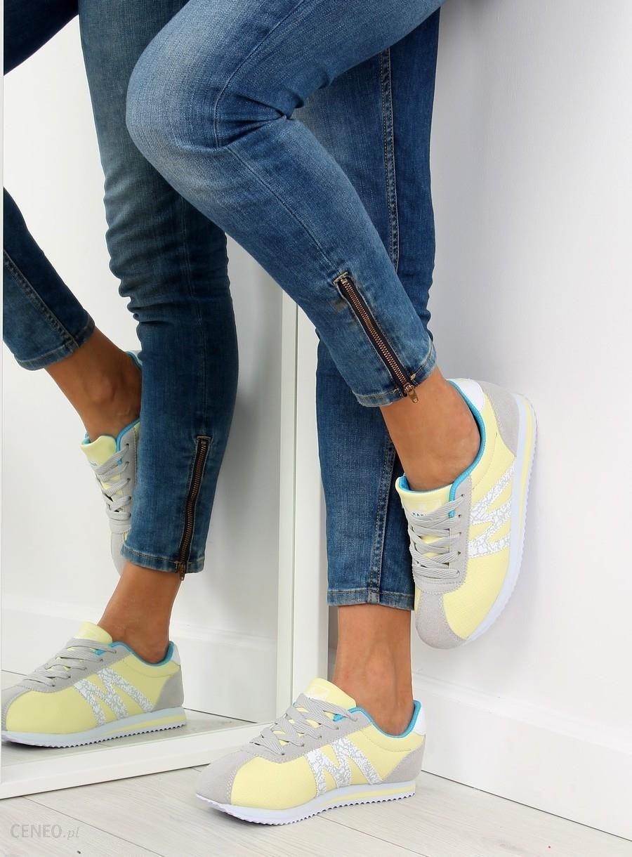 Buty sportowe bardzo wygodne B683 żółte