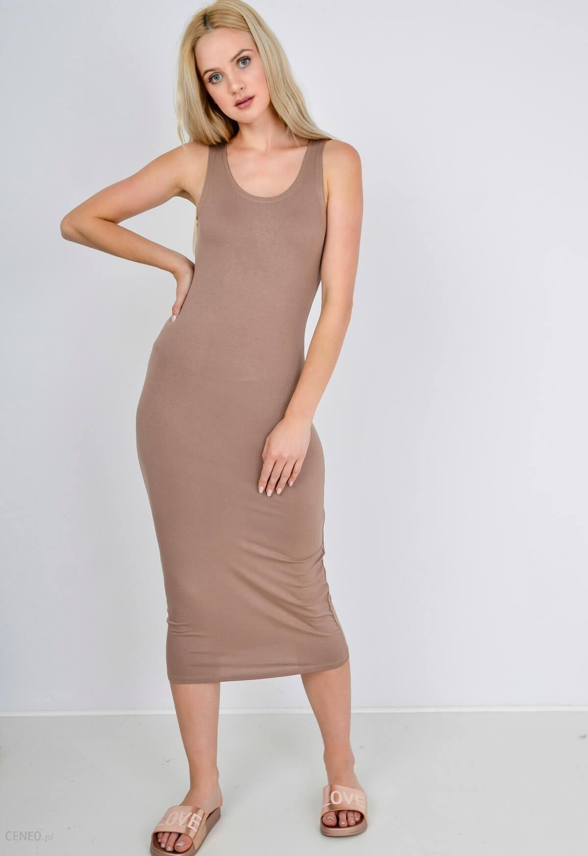 0403588648 Gładka sukienka tuba długość midi - Ceny i opinie - Ceneo.pl
