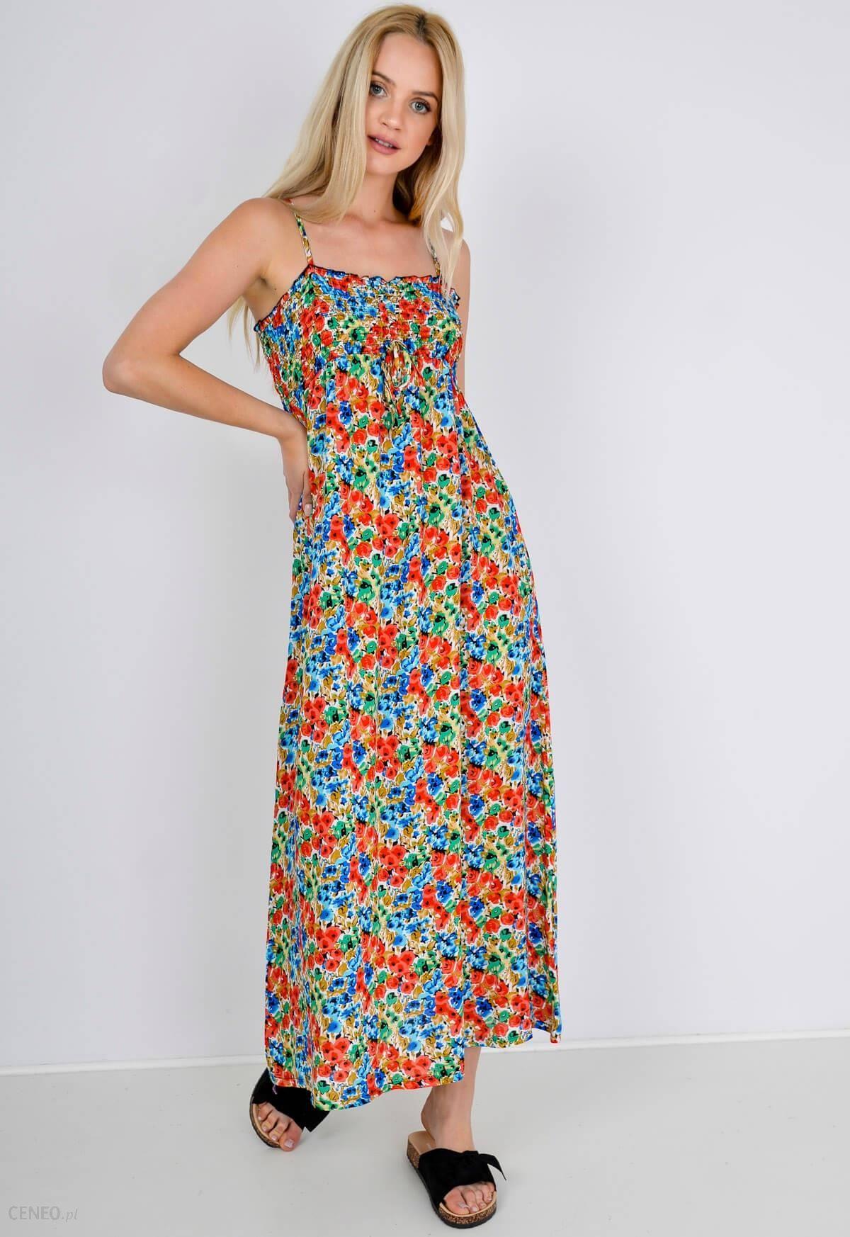cc718ea4c4 Sukienka maxi wzór w kwiatki - Ceny i opinie - Ceneo.pl