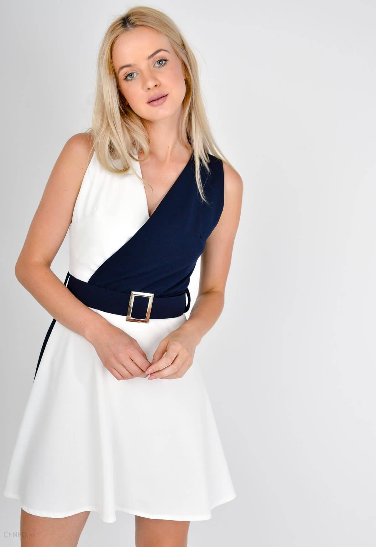e17210474d Sukienka geometrycznym wzór pasek - Ceny i opinie - Ceneo.pl