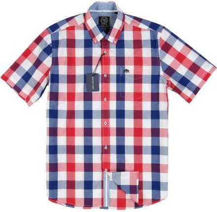 73c5275a9d762d Koszula Męska SLIM FIT Konsul błękitna w kratkę na krótki rękaw K596 ...