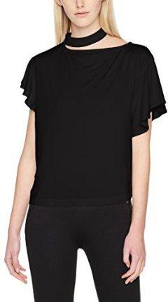 d9237aae9f Colour Pleasure Koszulka damska CP-034 41 biało-czarno-fioletowa r ...