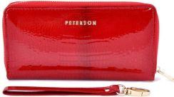 Portfel damski PETERSON 780 RED Crocodile