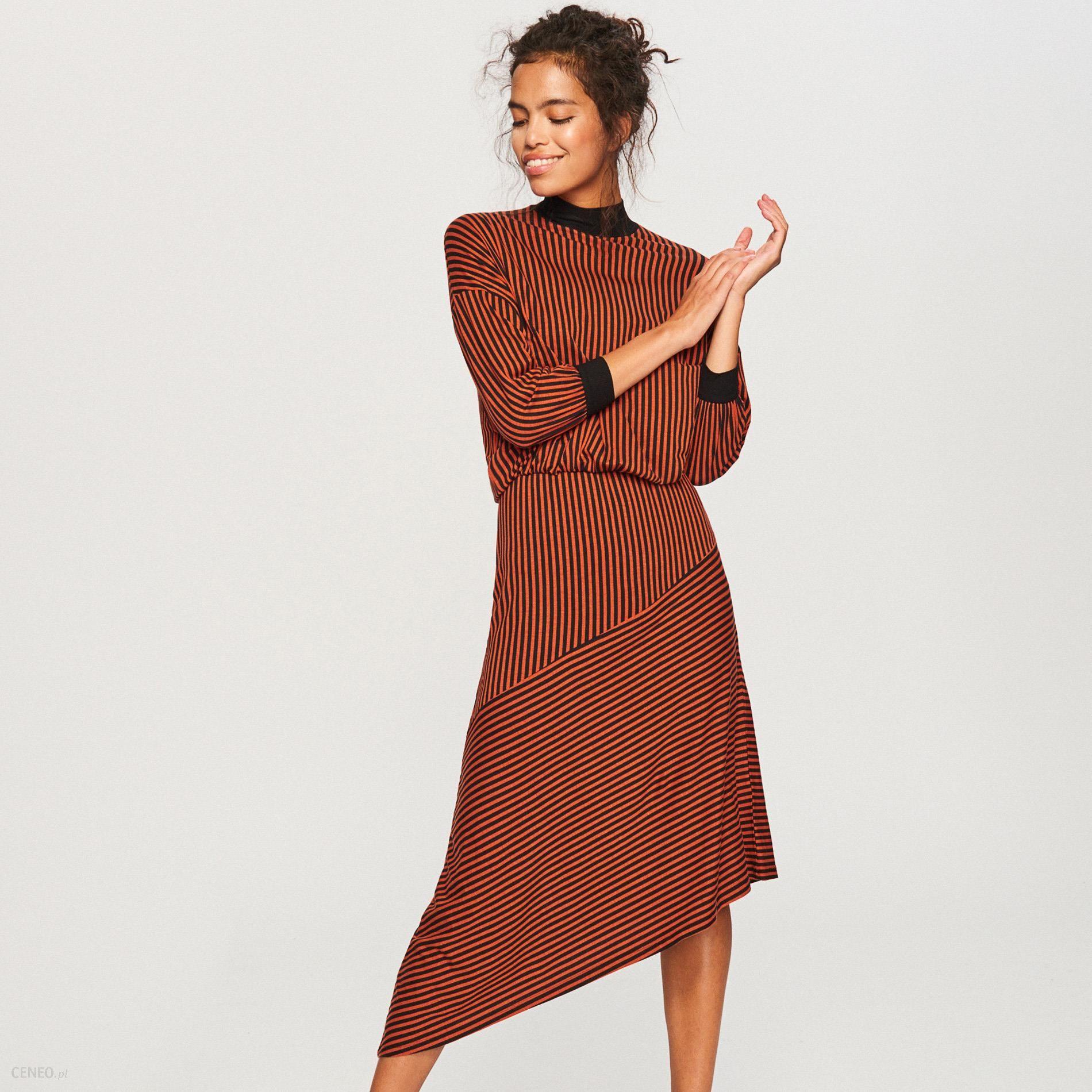 fde6e94d36 Reserved - Dzianinowa sukienka - Wielobarwn - Ceny i opinie - Ceneo.pl