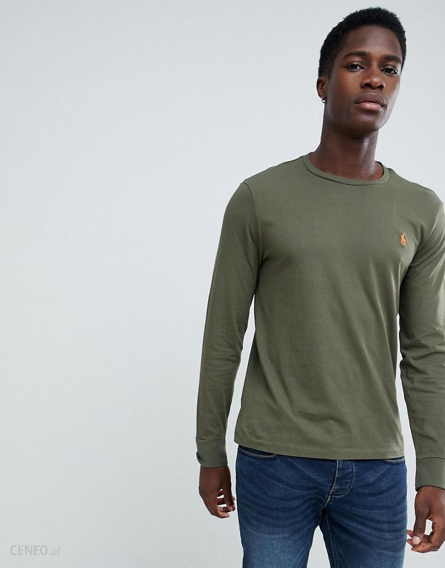 5688b854583 Polo Ralph Lauren long sleeve top player logo in olive green - Green - zdjęcie  1