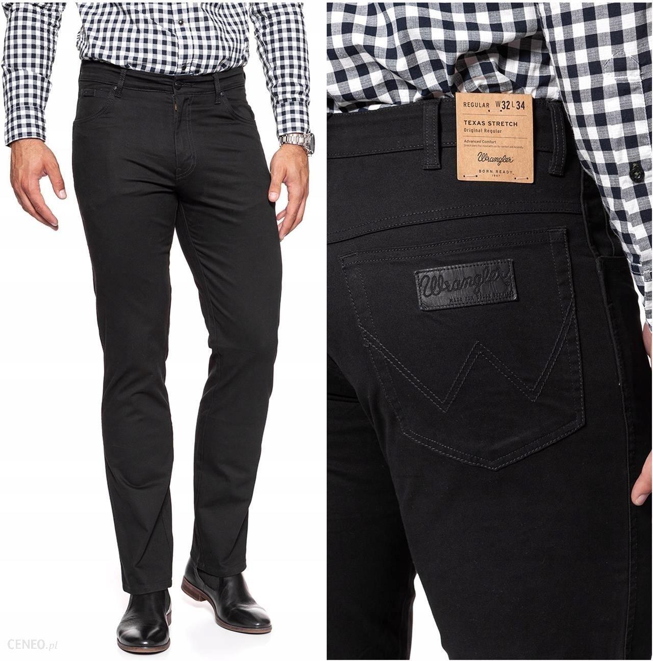 bb884ff240bd77 Wrangler Texas Black Spodnie Materiałowe W32 L34 - Ceny i opinie ...
