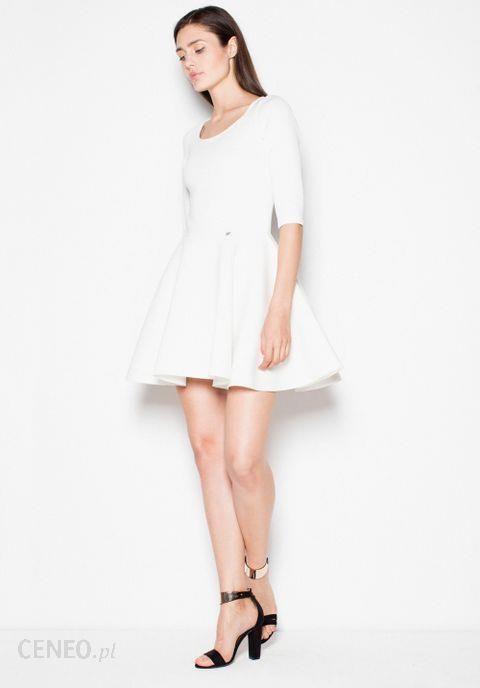 3fdc29aac7 Venaton Sukienka Model Vt075 Ecru - Ceny i opinie - Ceneo.pl