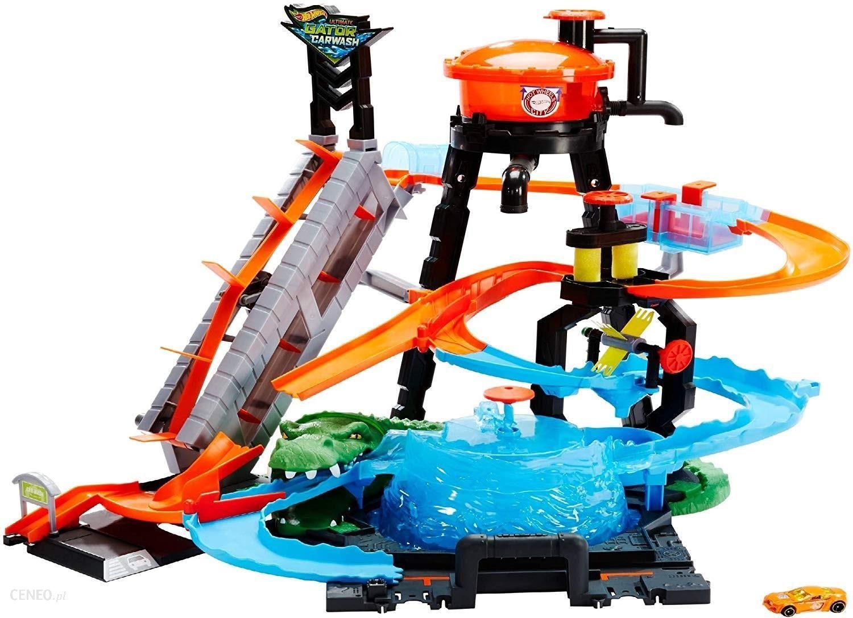 Hot Wheels City Megamyjnia Atak Krokodyla Ftb67 Ceny I Opinie