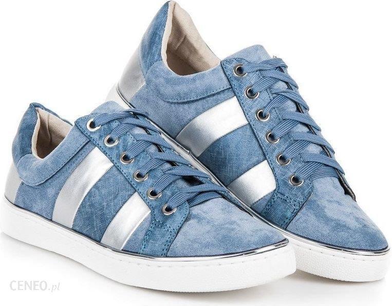 KYLIE Trampki damskie wiązane fashion niebieskie r. 36 Ceny i opinie Ceneo.pl