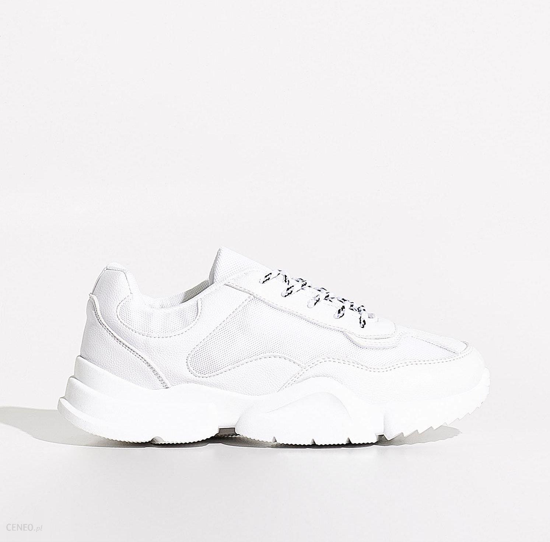 Białe sneakersy Sinsay Sneakersy damskie białe w Sinsay