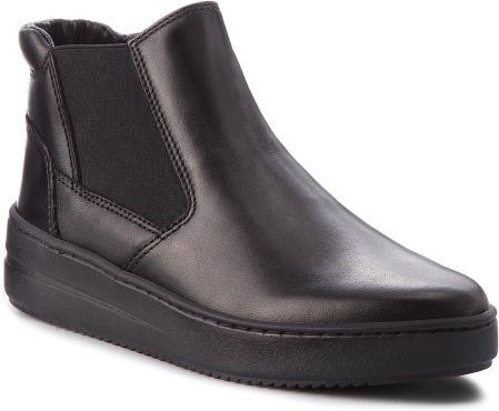 5f4248cc6a451 Botki TAMARIS - 1-25435-21 Black Leather 003 - Ceny i opinie - Ceneo.pl