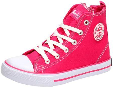 American Club Buty dziecięce z brokatem CHERRY różowe r. 35
