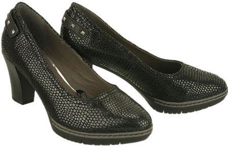 e0c3bfef JANA 22403-27 black, czółenka damskie - Czarny