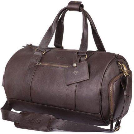 bc734b85ddcee Skórzana torba męska weekendowa SOLIER SL19 Brandon ciemny brąz - Brązowy