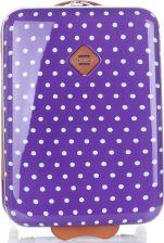 52730449b4756 Modne Walizki Kabinówki w kropki marki Snowball Fioletowe (kolory) ...