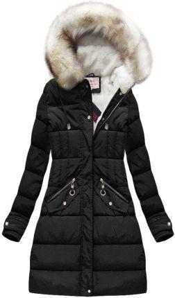 3305df140c590 Damska kurtka parka 2w1 jesień/zima w kolorze czarnym - Ceny i ...