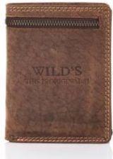d1f76401a41c6 Skórzany portfel męski wild z zamkiem w01z brązowy