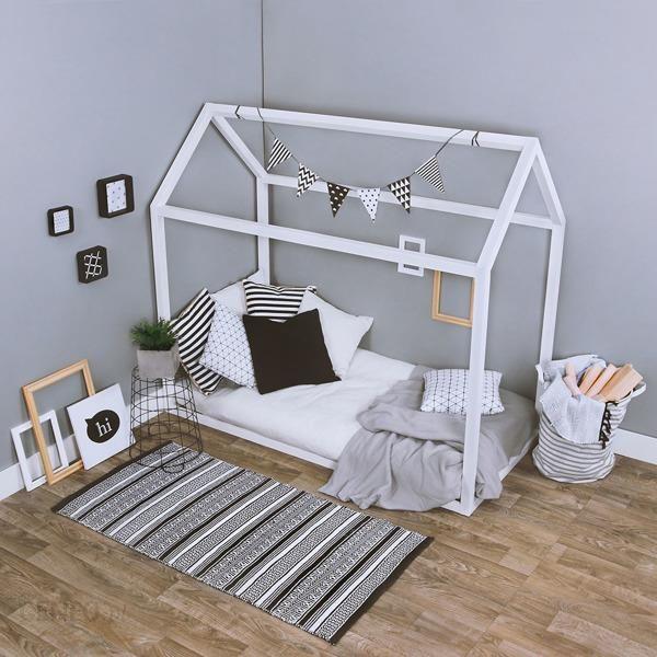 Kagu łóżko Domek Białe 160x80cm Ceny I Opinie Ceneopl