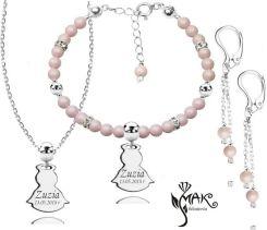 3fa8f5992575 Mak-Biżuteria 927 1 Komplet Swarovski Elements Srebro 925 Urodziny Komunia