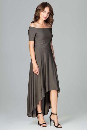 9602e4e1d7 Czarna Sukienka MAKAN Kopertowa Plus Size Kratka - czarny - Ceny i ...