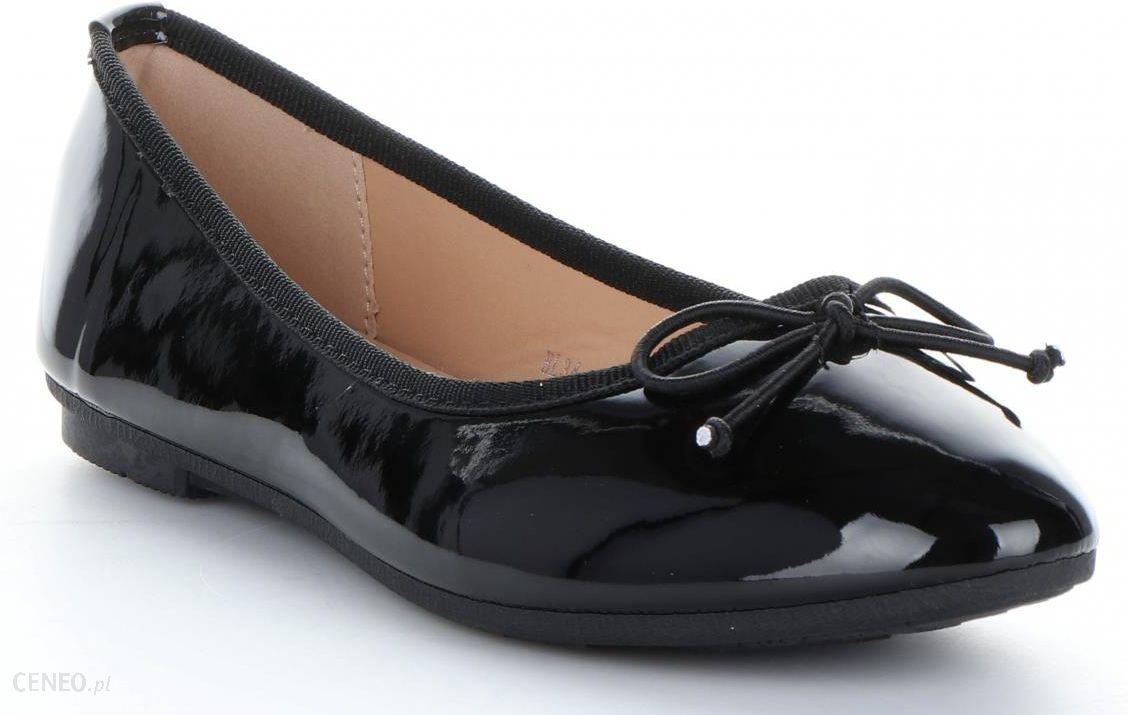 ca170a17220f Eleganckie Balerinki Damskie Bellucci Lakierowane z kokardką Czarne  (kolory) - zdjęcie 1