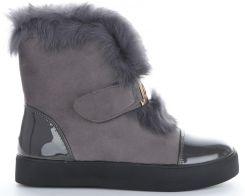cf390a4859739 Modne i Eleganckie Sneakersy Damskie Śniegowce firmy Sergio Todzi Szare  (kolory) ...