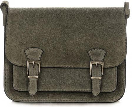 038b4e365f4ab Torebka Skórzana Listonoszka Genuine Leather Zielona (kolory) - Ceny ...