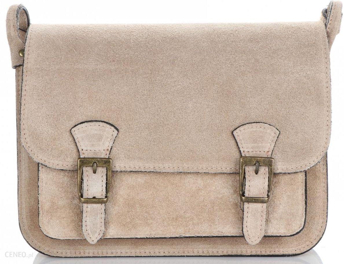 3efb7225734fa Torebki Listonoszki Skórzane Genuine Leather Ciemno Beżowa (kolory) -  zdjęcie 1