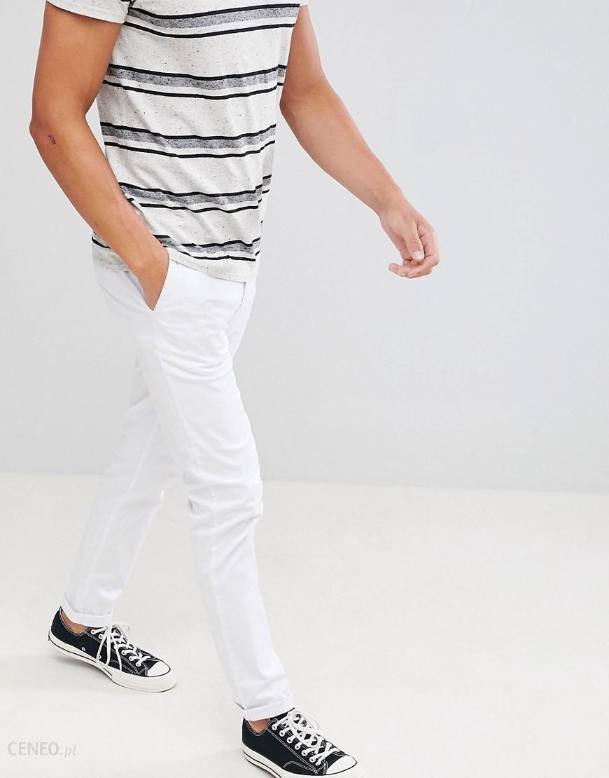 ASOS DESIGN slim chinos in white White Ceneo.pl