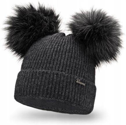 8e69a0f5e5e Amazon New Look damska czapka z dzianiny Double Faux FUR