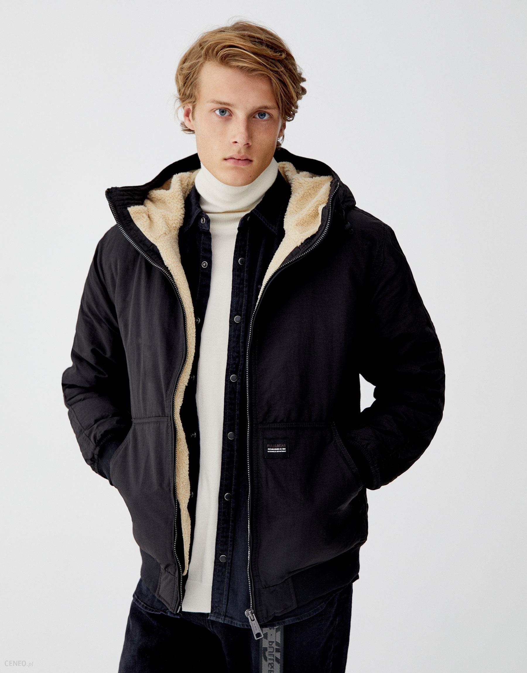 8b8b851468034 Pull & Bear Pikowana kurtka z obszyciem z baranka - Ceny i opinie ...