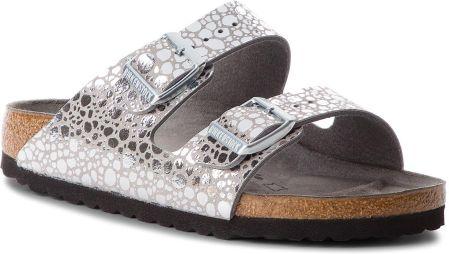 85e729689fe4 Klapki BIRKENSTOCK - Arizona Bs 1011913 Metallic Stones Silver Gray eobuwie