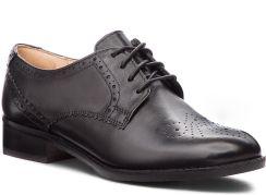 fef09af26 Oxfordy CLARKS - Netley Rose 261387714 Black Leather eobuwie