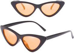 1d17bd1600dafc Okulary damskie kocie oko czarne pomarańczowe - czarne pomarańczowe