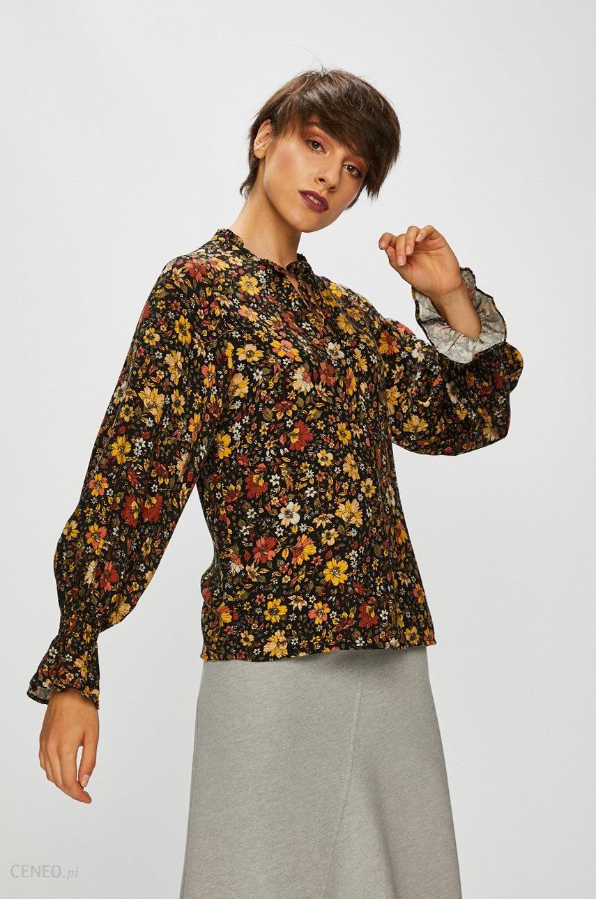 bd16e19da72f Koszula damska czarna w kwiaty z ozdobnym wiązaniem - Ceny i opinie ...