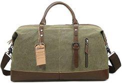 82eb43dc983d3 Amazon fresion Multipurpose Vintage płótno żeglarskie Canvas skórzana  unisex bagaż podręczny torba podróżna torba sportowa do